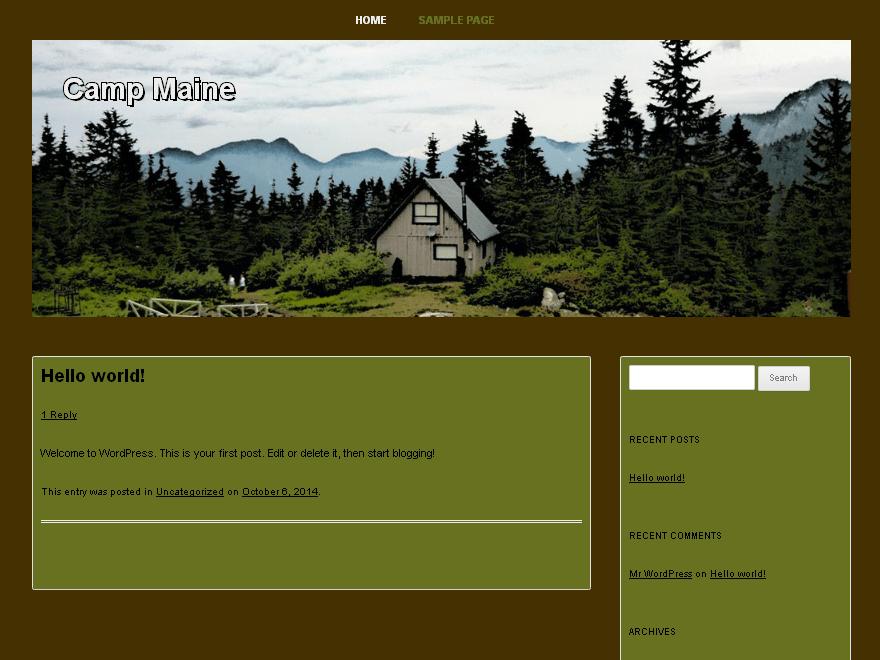 Вордпресс шаблон природа Camp-maine