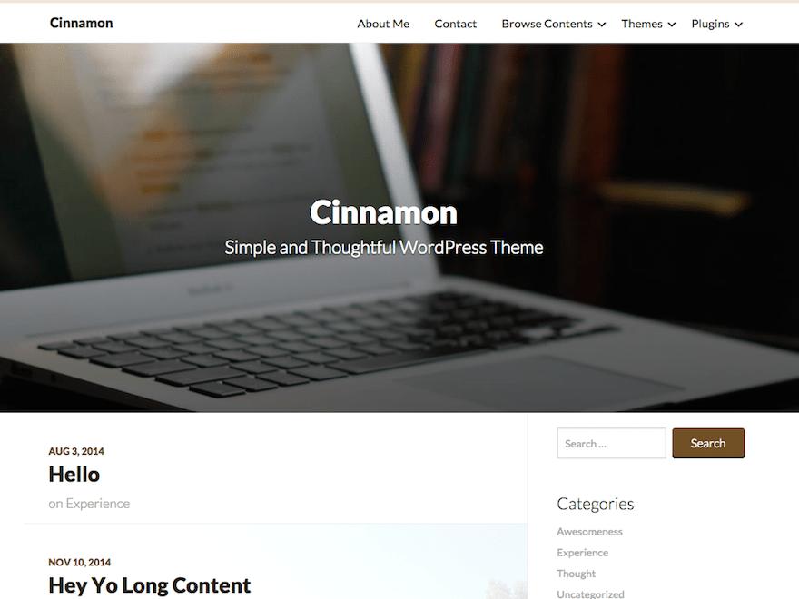 Бизнес-шаблон Вордпресс Cinnamon
