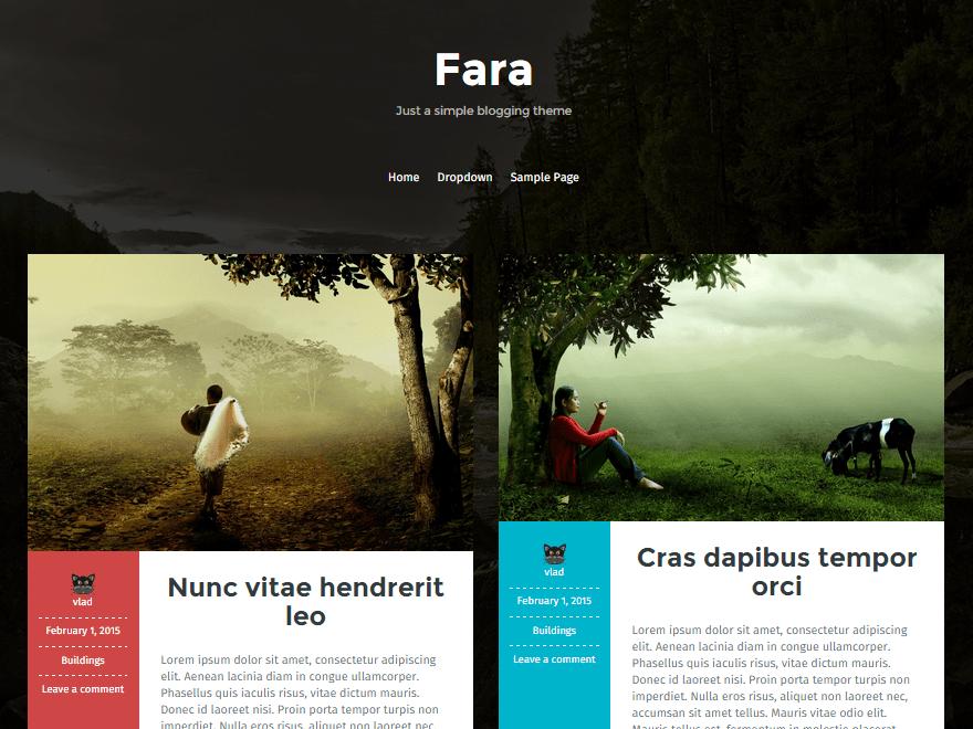 Вордпресс шаблон природа Fara