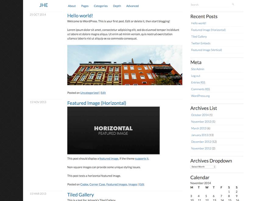 Wordpress тема виджеты Clear-content