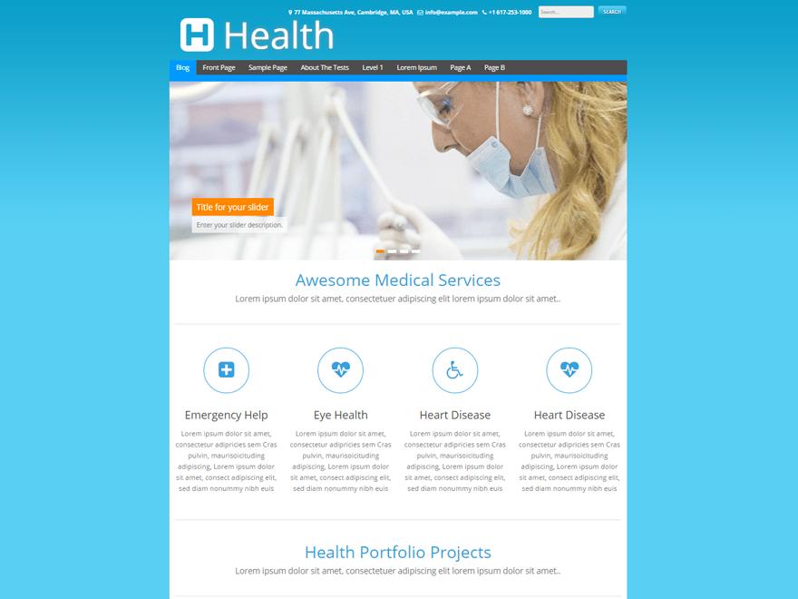 Wordpress тема здоровье Health