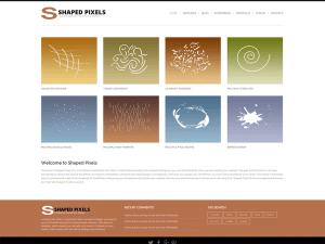 Простая тема Вордпресс Shaped-pixels