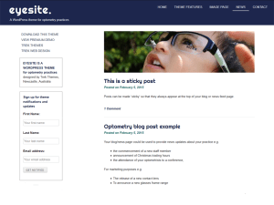 Wordpress тема виджеты Eyesite