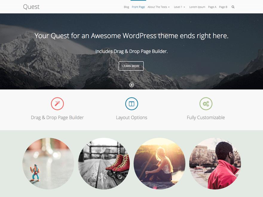 Современный шаблон Wordpress Quest