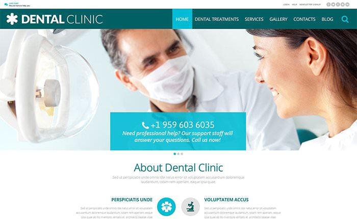 Шаблон для сайта стоматолической клиники