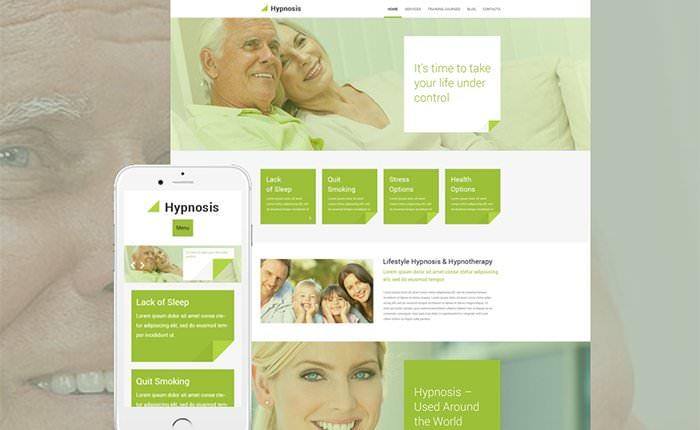 Hypnosis шаблоня для сайта о гипнозе