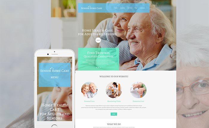 Шаблон для сайта о заботе о здоровье