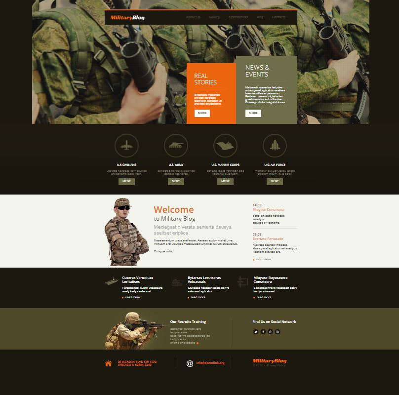 Military Blog шаблон для WP.