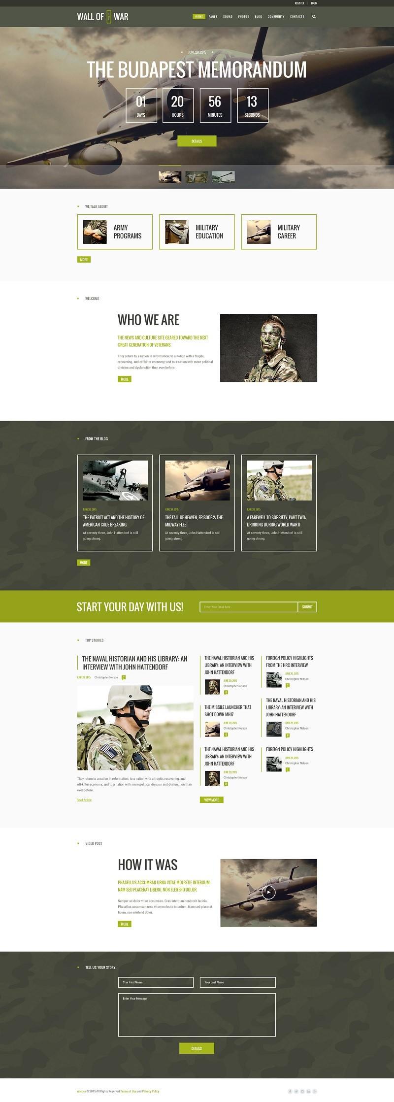 Шаблон для сайта ветеранов.