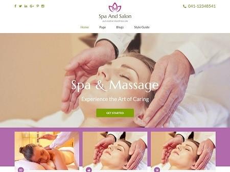 Бесплатный шаблон для салона красоты на вордпресс - Spa And Salon