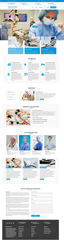 Скрин шаблона медицинской тематики.
