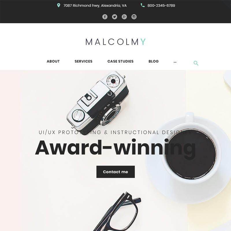 Malcolmy креативный шаблон для WordPress сайта.