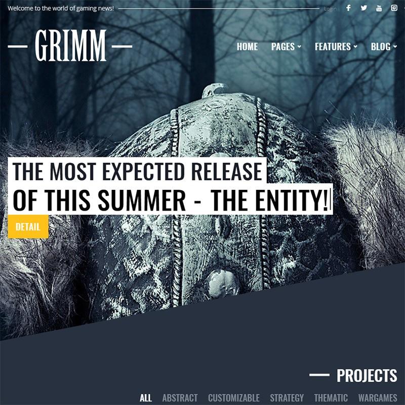 Grimm бесплатный шаблон для Вордпресс.