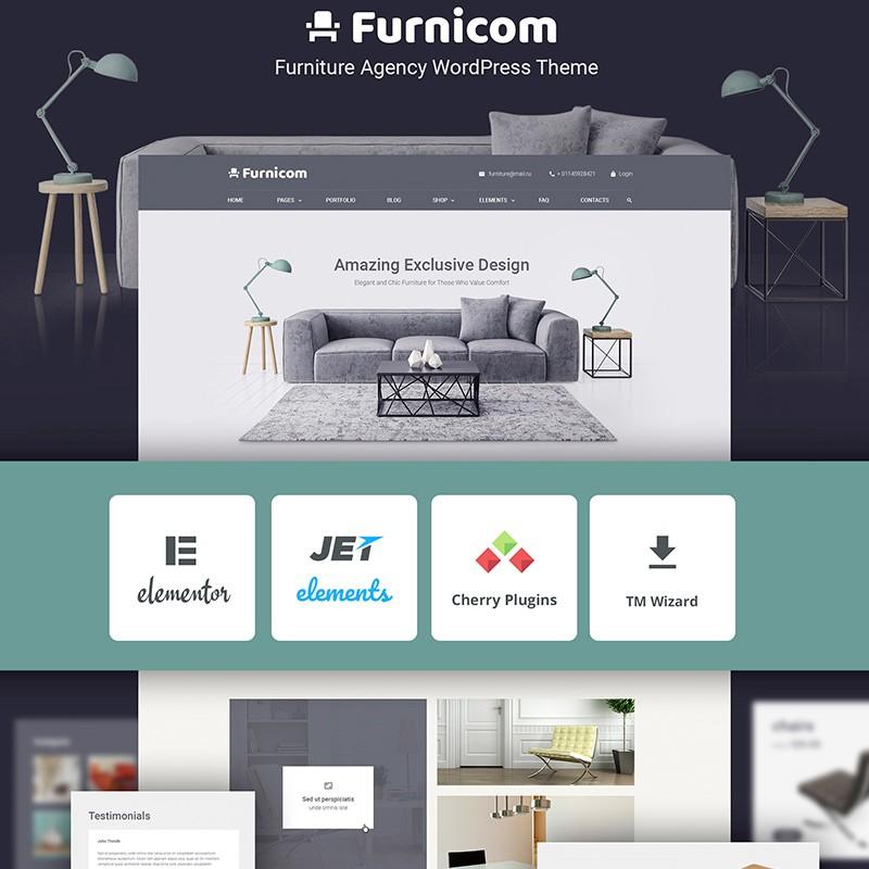 Furnicom бесплтная тема для WP сайта.