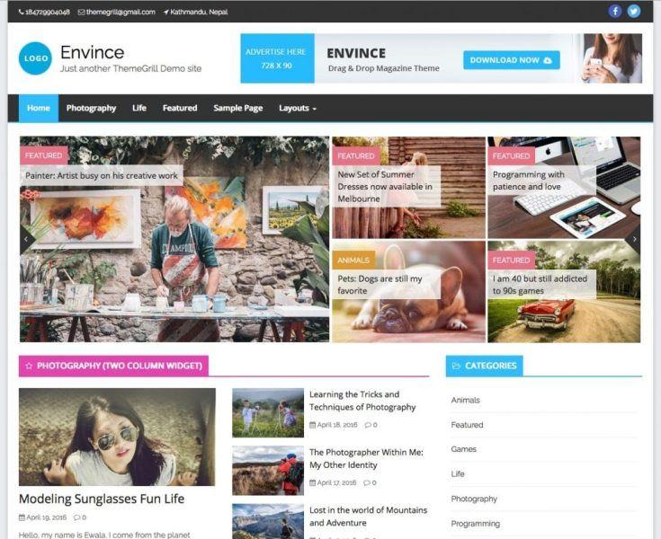 Envince-magazine-WordPress-theme