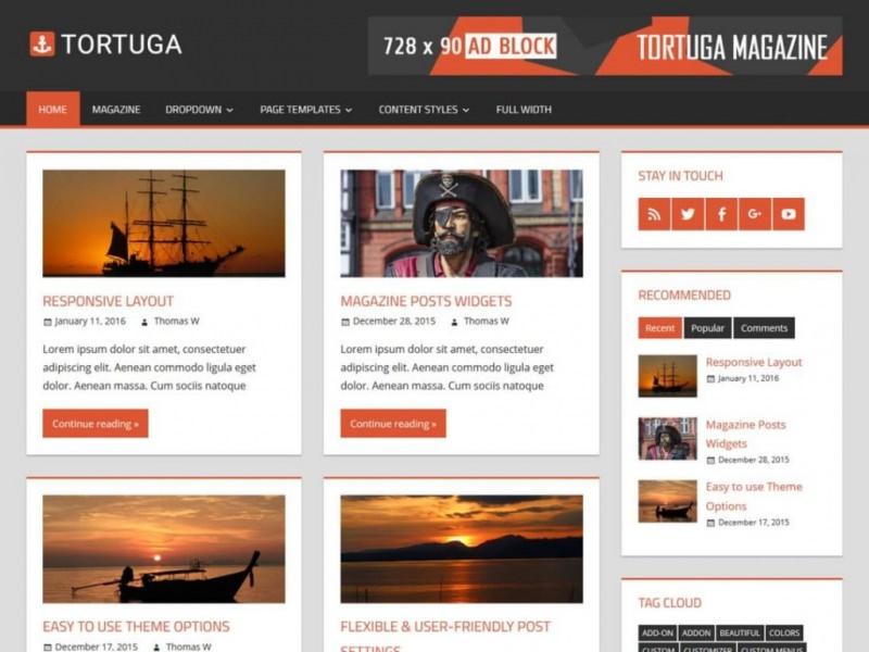 Tortuga-free-wordpress-magazine-theme