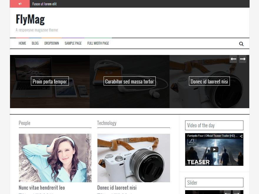 Бесплатный шаблон для онлайн журнала.