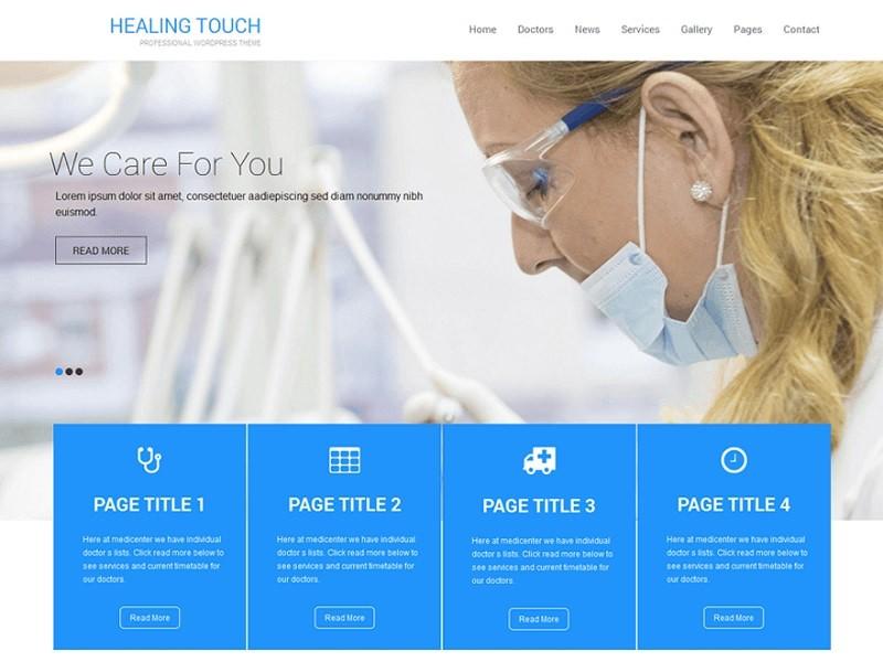 Healing Touch бесплатный шаблон для клиник.