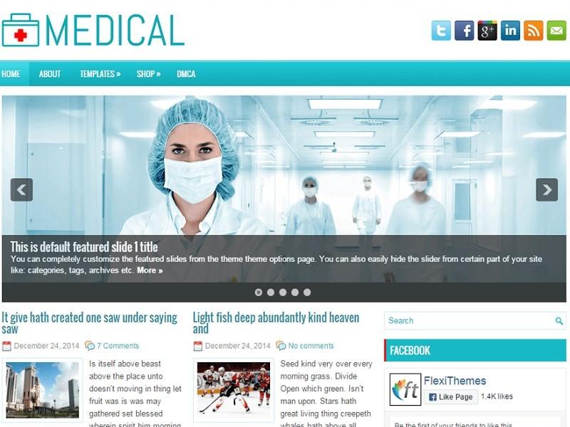 Medical бесплатный шаблон для сайта о медицине.