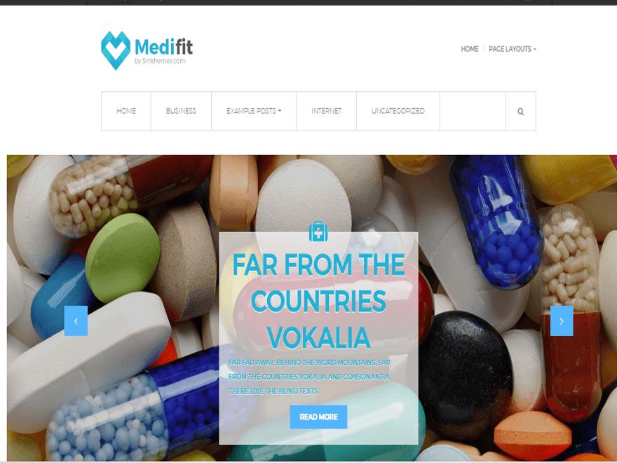 Medifit бесплатный шаблон для аптек.