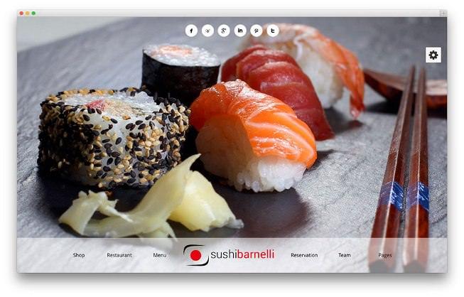 Barnelli ресторанная тема вордпресс