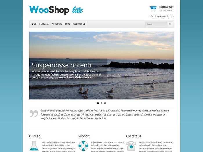 WooShop Lite бесплатній шаблон для онлайн магазина.