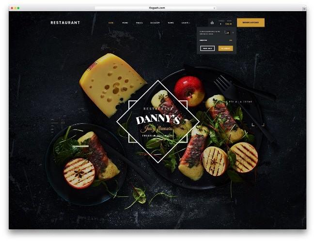 dannys restaurant тема для вордпресс