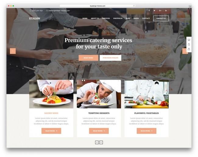 etalon вордпресс тема ресторана