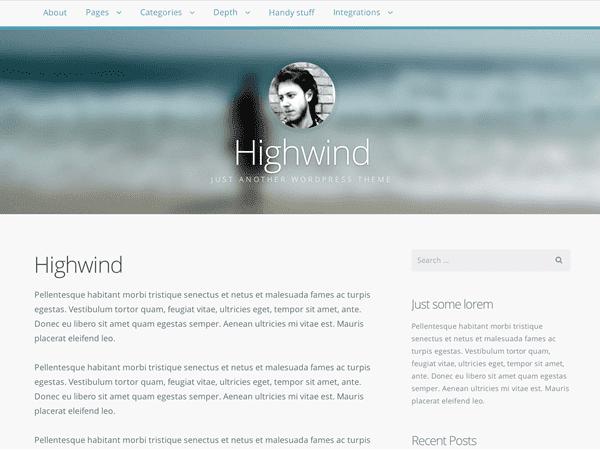 Highwind простой шаблон для инет-магазина.