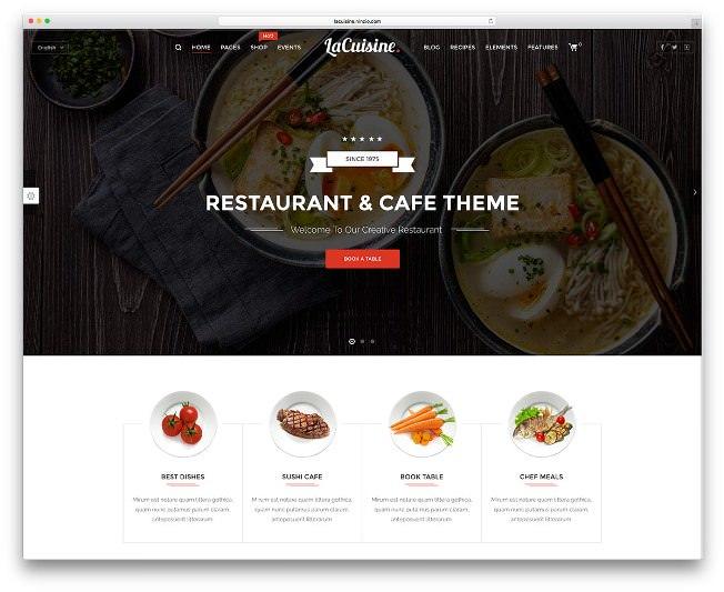 lacuisine шаблон для ресторанного бизнеса на вордпресс
