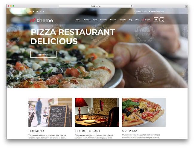 mf пицца ресторан тема для вордпресс