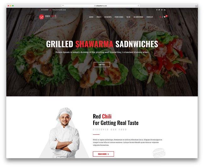 redchili тема для ресторана вордпресс