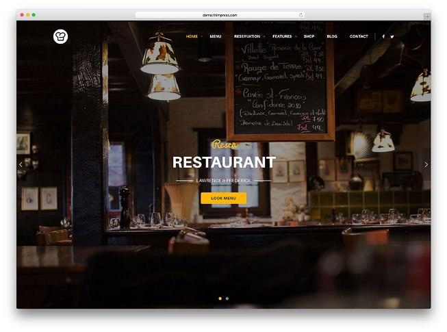resca тема вордпресс для кафе и ресторана