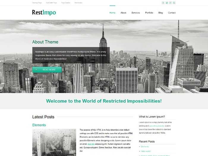 RestImpo вордпресс шаблон для интернет магазина.