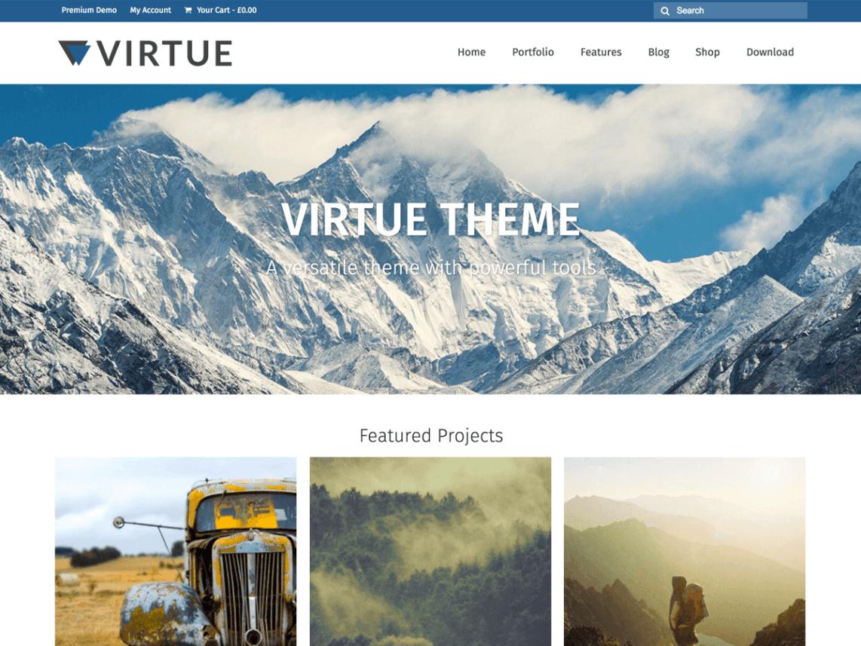 Virtue шаблон для вордпресс