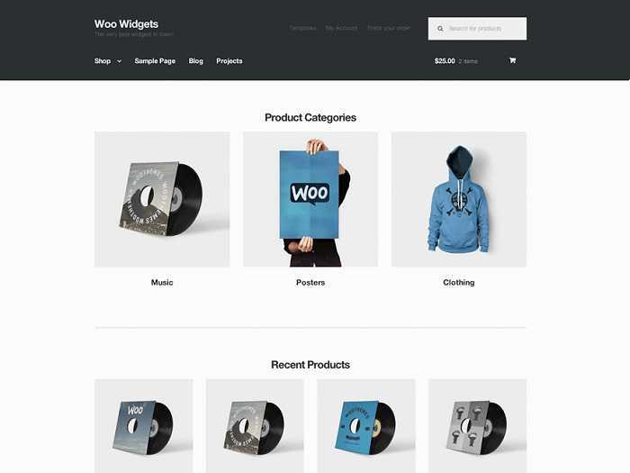 Storefront тема WP для онлайн магазина.