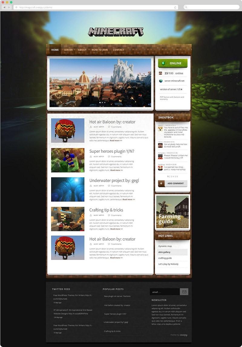 Magicraft  шаблон WordPress