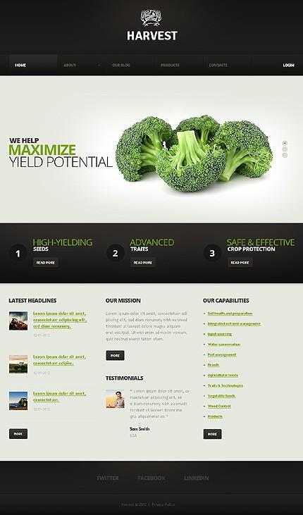 Шаблон для сайт производителья сельхоз товаров.