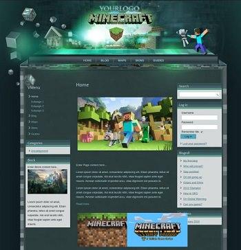 Шаблоны для minecraft сайтов.