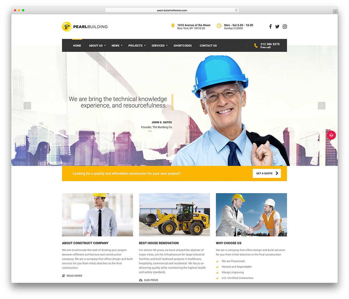 Шаблон для строительного сайта.