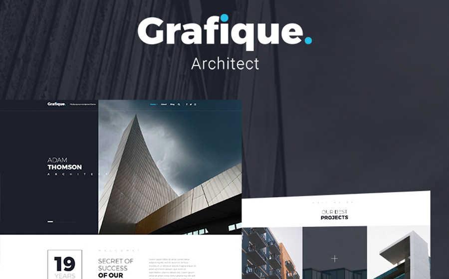 Шаблон WordPress сайта архитекты и дизайна.