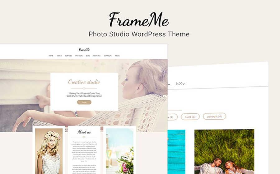 Шаблон WordPress сайта студии фотографии.