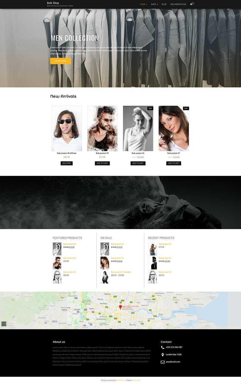 Скриншот бесплатного шаблона Bulk Shop.