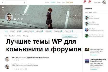 Подборка тем Wordpress для создания форумов и комьюнити.