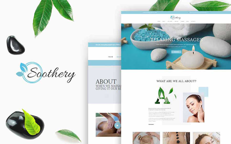 WordPress шаблон Soothery - SPA & Massage Salon Responsive