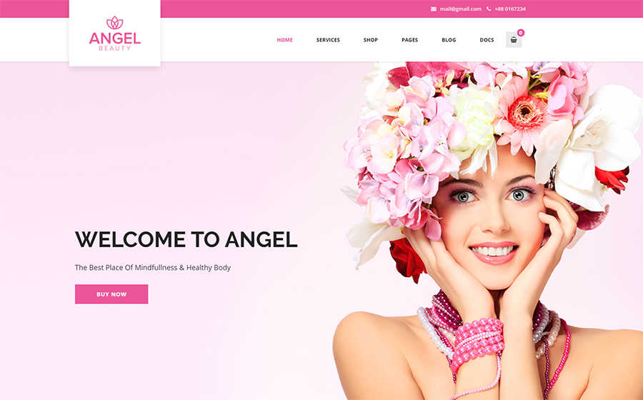 WordPress шаблон Angel - Beauty Salon Store