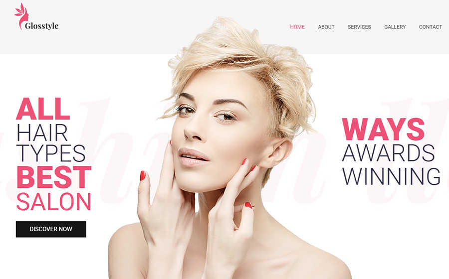 WordPress шаблон Glosstyle - Beauty Salon Elementor