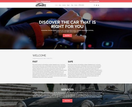 Шаблон Automobile Lite бесплатный для Вордпресс сайта.