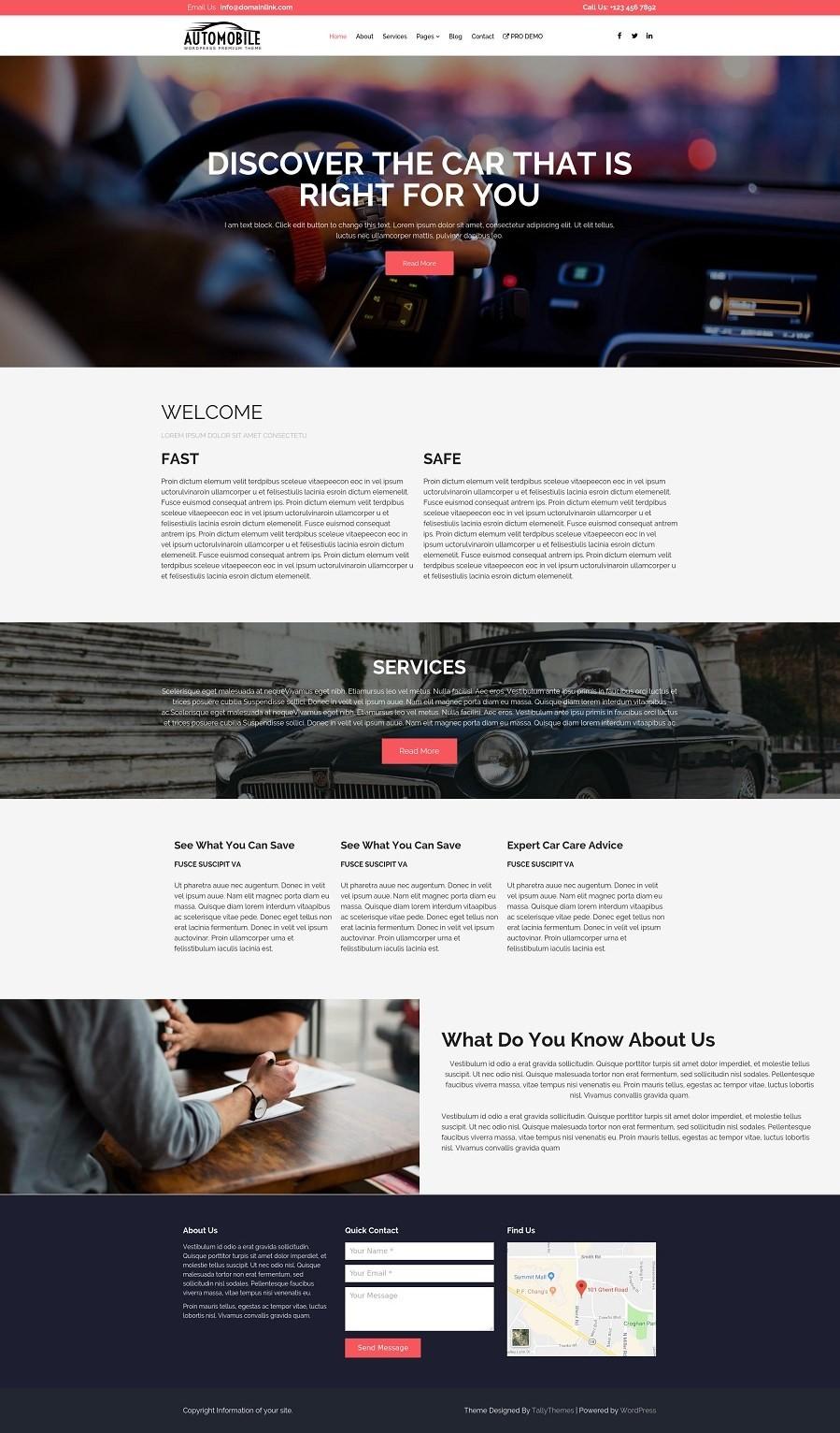 Бесплатная автомобильная тема для WordPress.