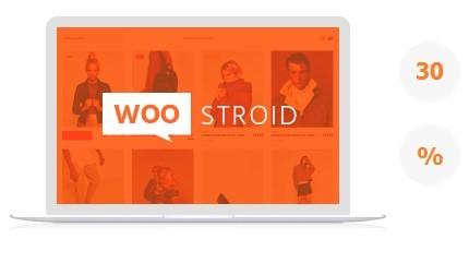 Скидка на шаблон Woostroid - 30%.